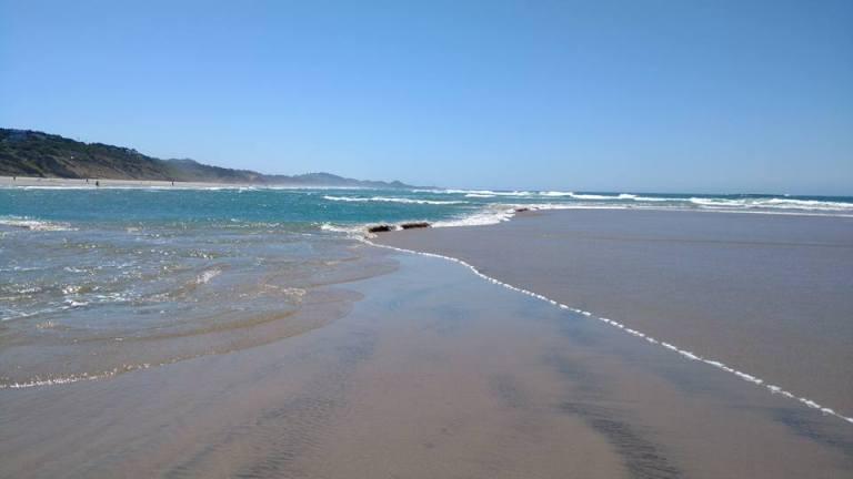 Beverly Beach Oregon where the ocean swirls around you